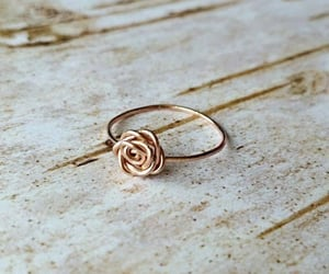 jewelry, ring, and rose image