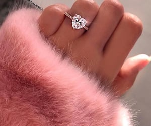 ring, pink, and diamonds image