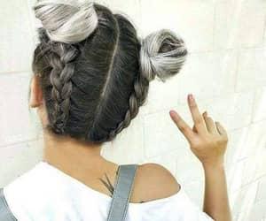 beautiful, grey, and hair image