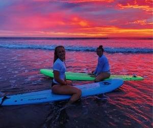 surf and girl image