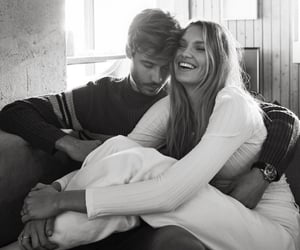 black and white, lovers, and model image