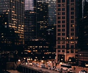 city, light, and building image