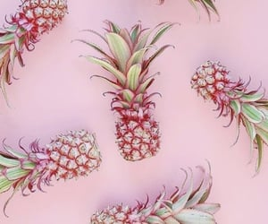 background, pink, and pineapples image