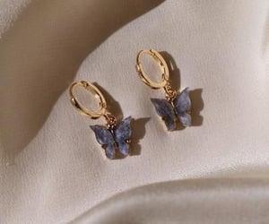 butterfly, earring, and earrings image