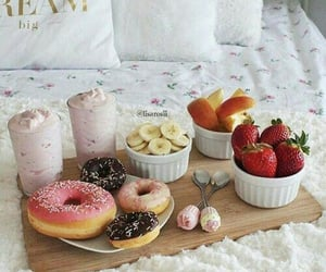 donuts, fruit, and food image