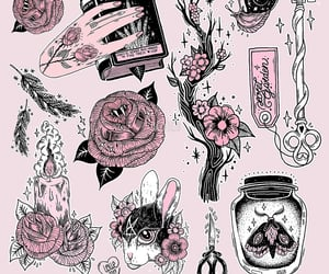 art, background, and illustration image