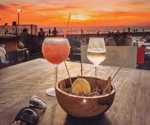 beach, drink, and enjoy image