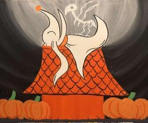 art, autumn, and dog image