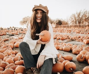 autumn, fall, and smile image