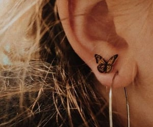 butterfly and earrings image