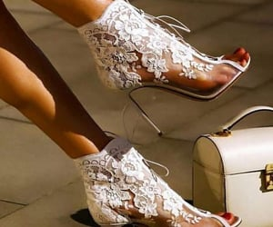 fashion, high heels, and lace image