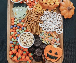 candies, decor, and Halloween image