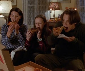 gilmore girls and pizza image