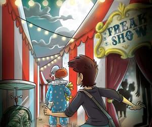 circus, dark, and freak show image