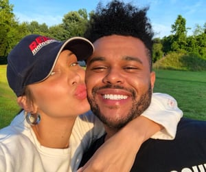 couple, the weeknd, and bella hadid image