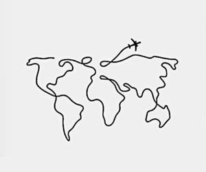 travel, plane, and world image