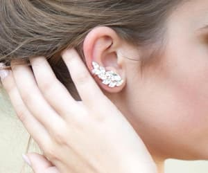 bridal jewelry, rose gold studs, and crystal jewelry image