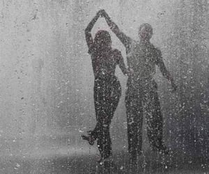 rain, love, and couple image