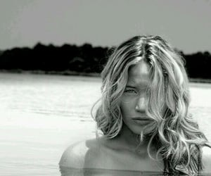 Jennifer Lawrence, black and white, and water image
