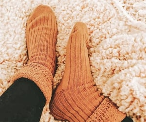 autumn, cozy, and socks image