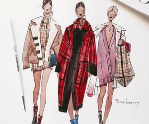 art, chic, and coats image