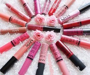 girl, lipstick, and NYX image