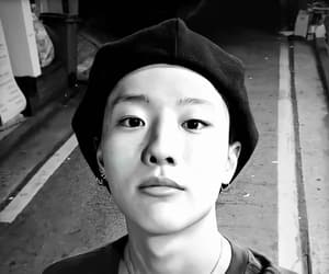 aesthetic, black and white, and beret image