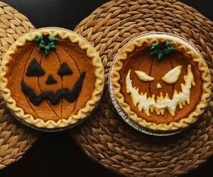 Halloween, pumpkin, and food image