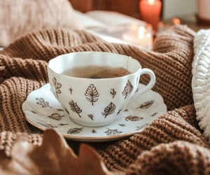 candle, cozy, and tea image