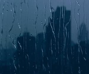 city, gif, and rain image