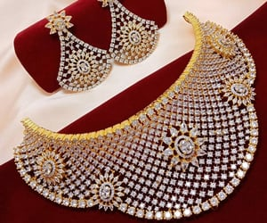 beautiful, necklace set, and bridal image