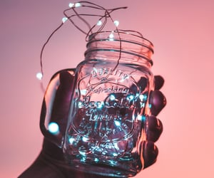 light, jar, and pink image