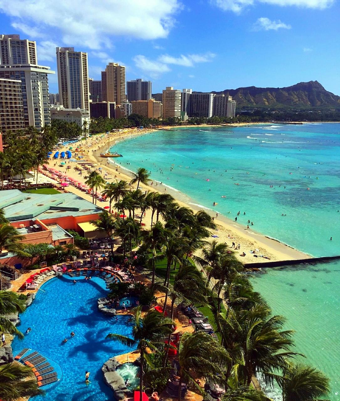 Waikiki Beach Hawaii Usa On We Heart It