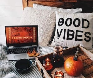 autumn, fall, and bed image