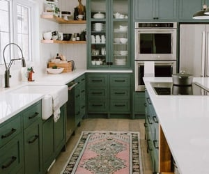 green, kitchen, and home house apartment image