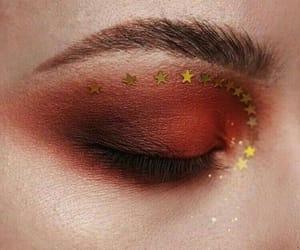 eye, makeup, and stars image
