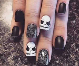 Halloween, manicure, and nail image