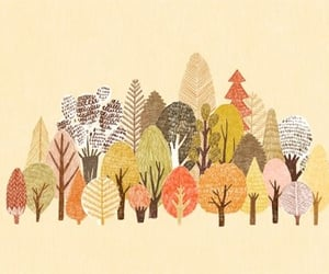 art, autumn, and drawing image