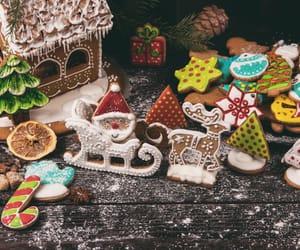 cakes, christmas, and christmas cookies image