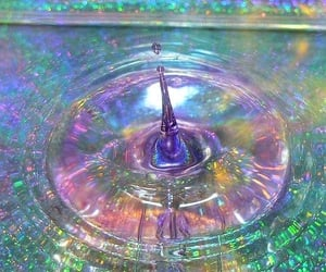 water, grunge, and rainbow image
