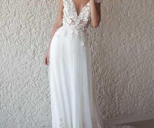 wedding dress, fashion, and girl image