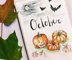 october, pumpkin, and bullet journal image