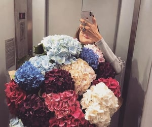 fashion, flowers, and girls image