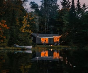 cozy, lake house, and mountain cabin image