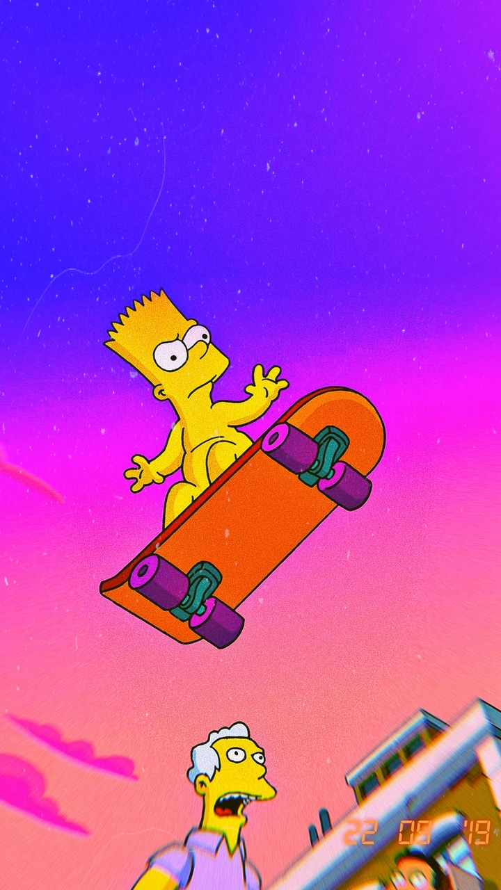 bart, simpson, and walpaper image