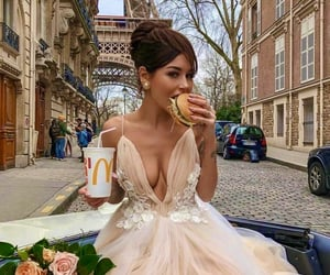 dress, paris, and food image