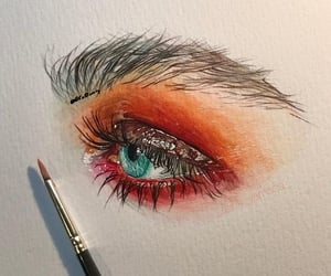 art, eyelash, and drawing image