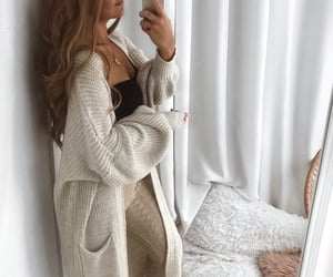 cardigan, cozy, and fall image