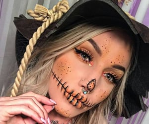 Halloween, scarecrow, and blonde image