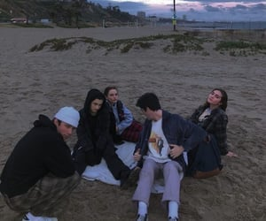 friends and beach image